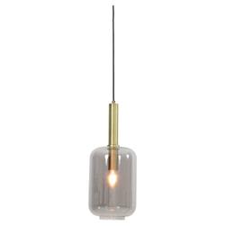 Light & Living Hanglamp 'Lekar' 22cm, antiek brons+smoke glas