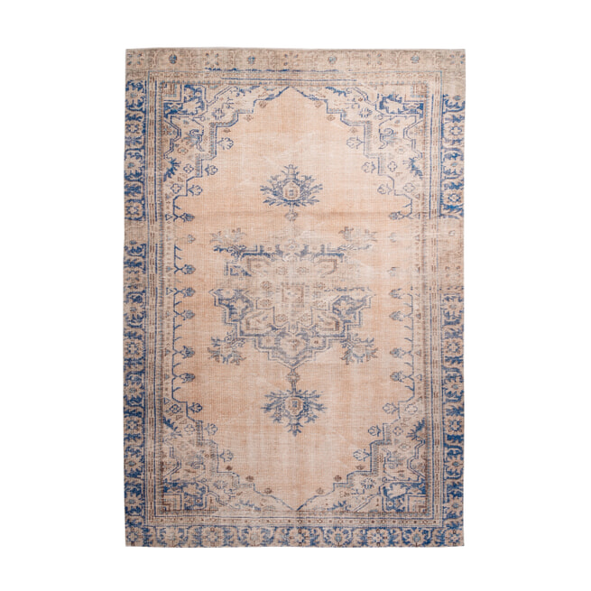 Kayoom Vloerkleed 'Vintage 8406' kleur blauw