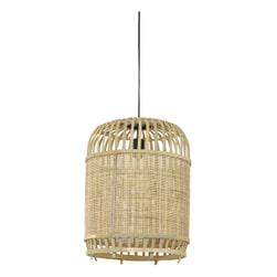 Light & Living Hanglamp 'Alifia' 34cm, bamboe+webbing naturel