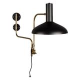 Dutchbone Wandlamp 'Devi' 49cm, kleur Zwart