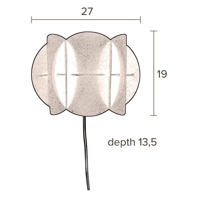 Dutchbone Wandlamp 'Corridor' 19cm