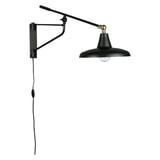 Dutchbone Wandlamp 'Hector' 30cm, kleur Zwart