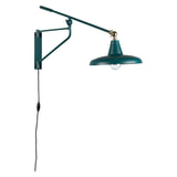 Dutchbone Wandlamp 'Hector' 30cm, kleur Teal
