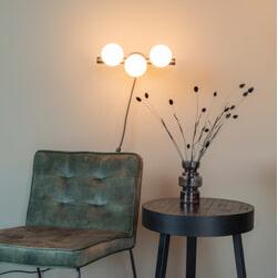 ZILT Wandlamp 'Monique' 3-lamps, kleur Wit
