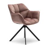 Rivièra Maison Eetkamerstoel 'Carnaby' Velvet III, kleur Rosé Stain