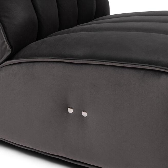 Rivièra Maison Fauteuil 'Monterey' Leather, kleur Charcoal