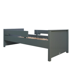 Bopita Bed 'Jonne' 90 x 200cm, kleur deep grey