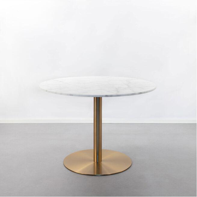 Sohome Ronde Eettafel 'Naima' kleur Wit Marmer/Brass