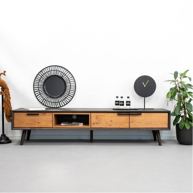 Tower Living Tv-meubel 'Bresso' Eiken, 200 cm