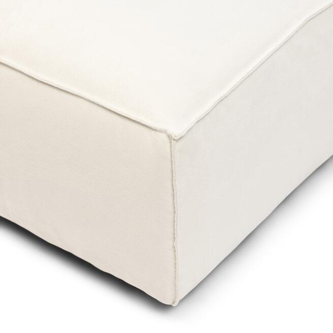 Rivièra Maison Hocker 'Brandon' Scottish Suede, kleur Blanc