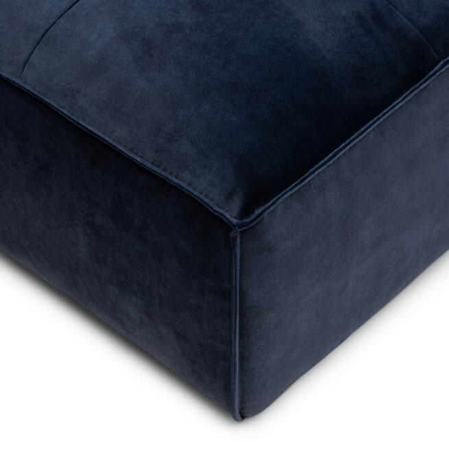 Rivièra Maison Hocker 'Brandon' Velvet, kleur Estate Blue