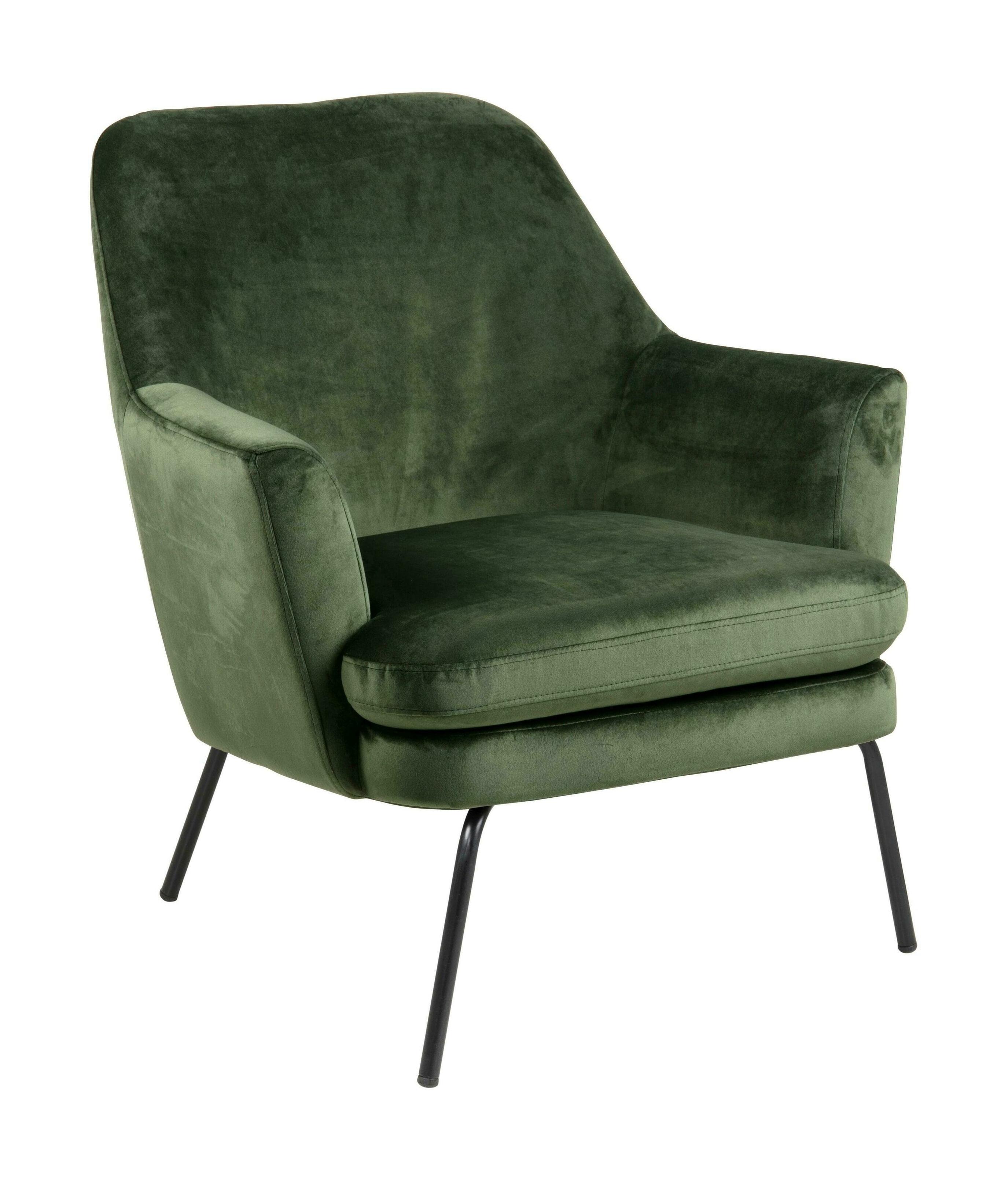 Bendt Fauteuil 'Kian' Velvet, kleur Groen