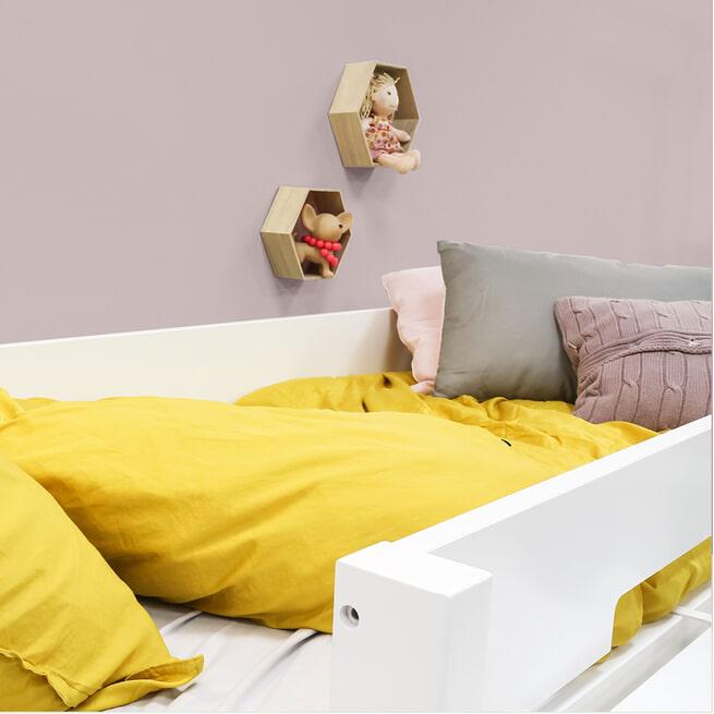 Bopita Hoogslaper met rechte trap 'Combiflex' 90 x 200cm, kleur wit