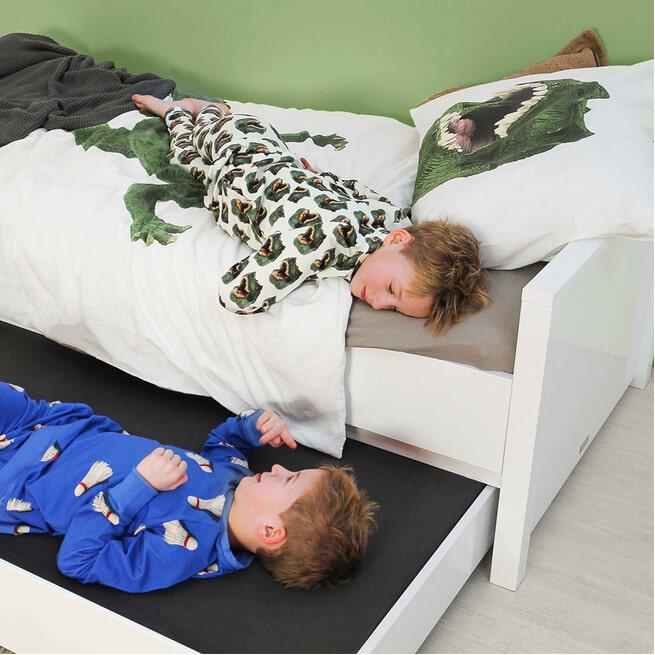 Bopita Bed met hoog hoofdeinde 'Bobby' 90 x 200cm, kleur wit