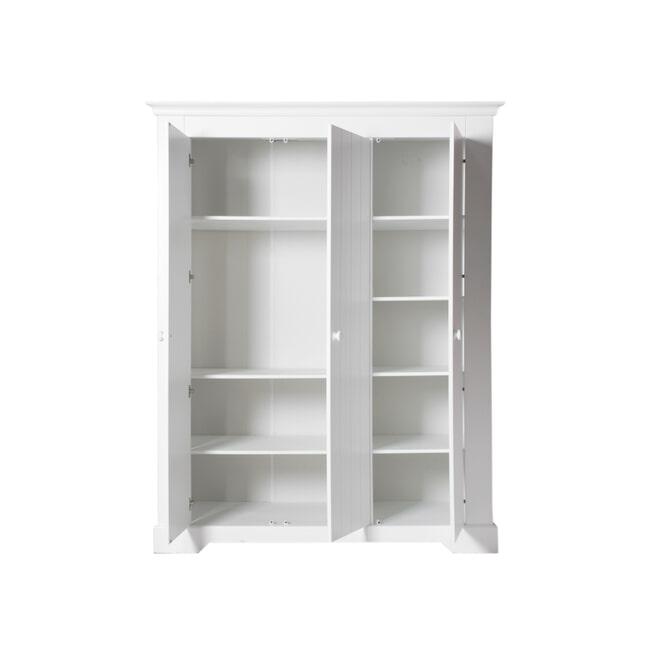 Bopita Kledingkast 'Narbonne' 3-deurs, kleur wit
