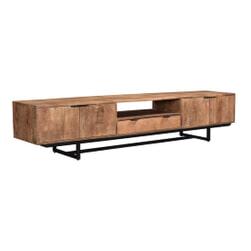 LivingFurn TV-meubel 'Valdez' kleur Naturel, 220 cm