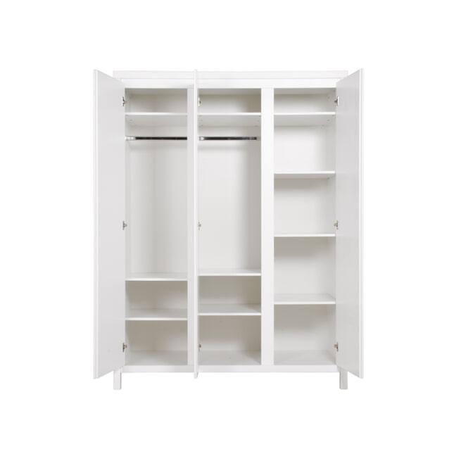 Bopita Kledingkast 'Corsica' 3-deurs, kleur wit