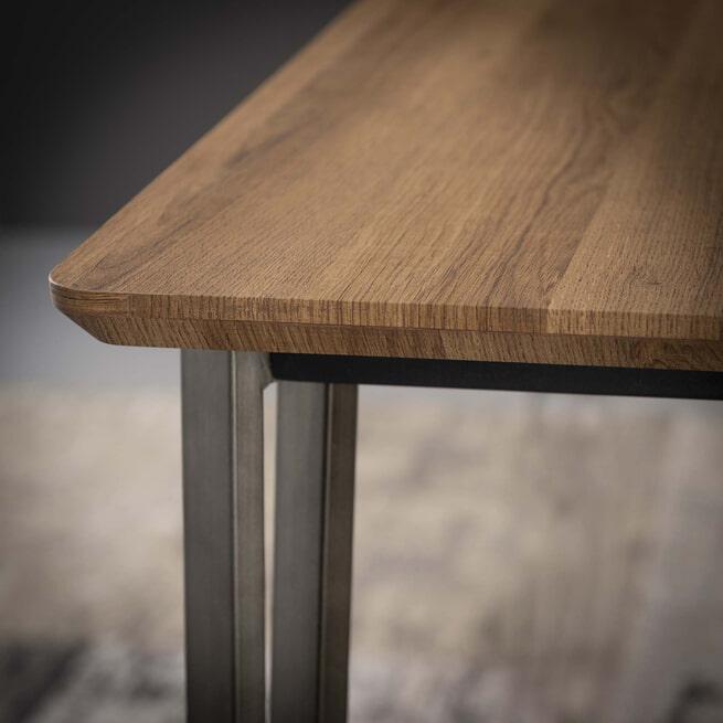 Industriële Eettafel 'Judy' 3D-eikenlook brownwash