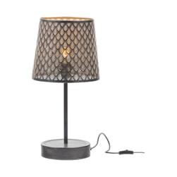 WOOOD Tafellamp 'Kars' kleur Zwart/Antique Brass