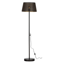 WOOOD Vloerlamp 'Kars' kleur Zwart/Antique Brass