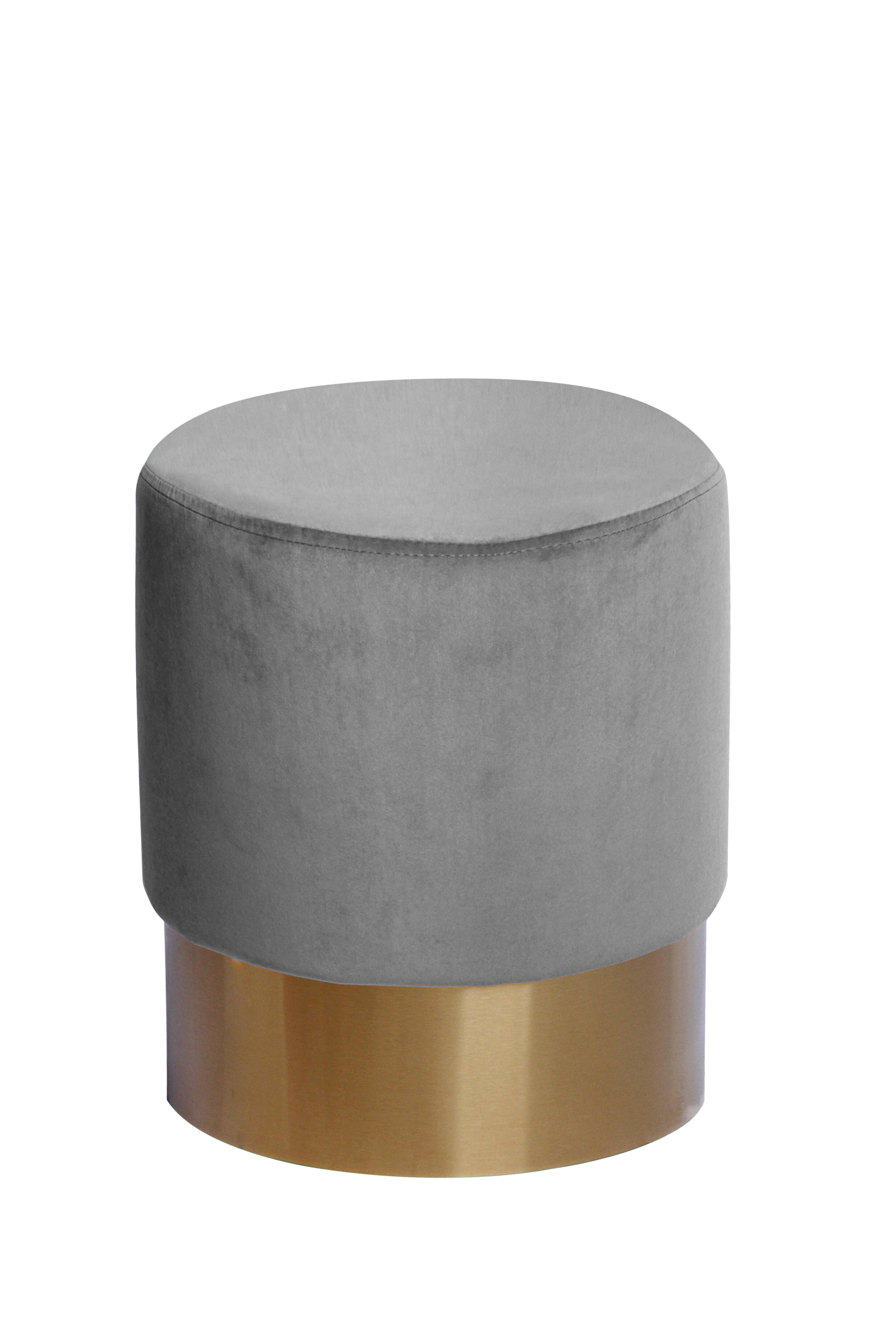 Kayoom Poef 'Nano' 35cm, kleur grijs