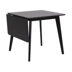 Bendt Uitschuifbare Eettafel 'Torkil' 80-120 x 80cm, kleur Zwart