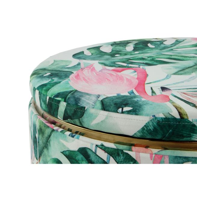 Kayoom Poef 'Flamingo' 53cm, met deksel