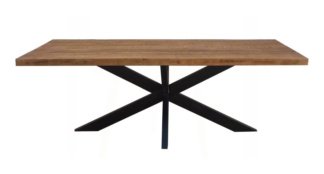 Brix Eettafel 'Sturdy' Mangohout, 240 x 100cm Tafels | Eettafels vergelijken doe je het voordeligst hier bij Meubelpartner