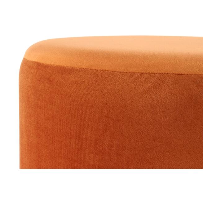 Kayoom Poef 'Rebecca' Velvet met franjes, 41cm, kleur oranje / goud