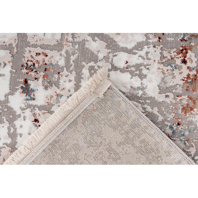 Kayoom Vloerkleed 'Akropolis 125' kleur Grijs / Zalmroze