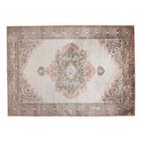 Dutchbone Vloerkleed 'Mahal' 170 x 240cm, kleur Pink/Olive
