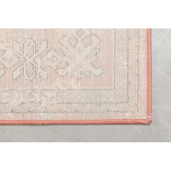 Dutchbone Vloerkleed 'Mahal' kleur Pink/Olive