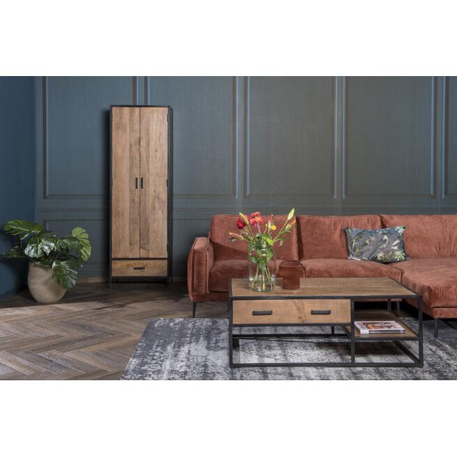 LivingFurn Salontafel 'Sturdy' kleur Naturel, 120 x 70cm
