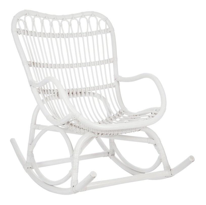 J-Line Schommelstoel 'Julma' Rotan, kleur Wit