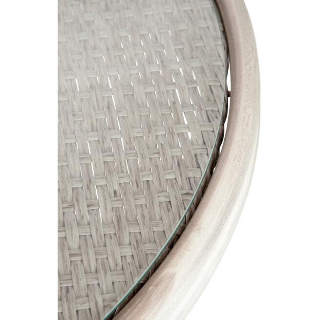 J-Line Bijzettafel 'Hilda' kleur Grijs, Ø70cm