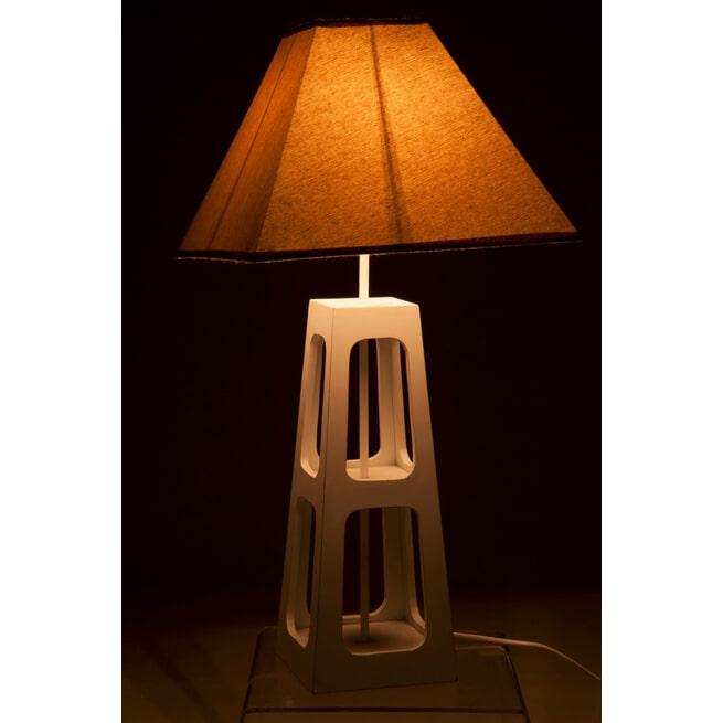 J-Line Tafellamp 'Harm' kleur Wit