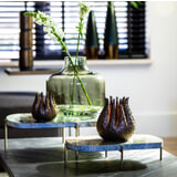 Light & Living Plateau 'Besila' Set van 2 stuks, kleur Groen Marmer
