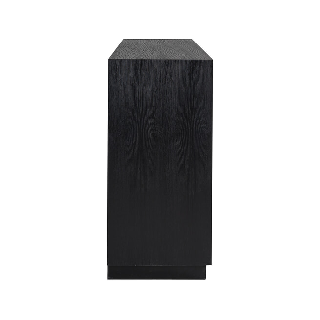 Richmond Dressoir 'Oakura' Eikenhout, kleur Zwart, 190cm
