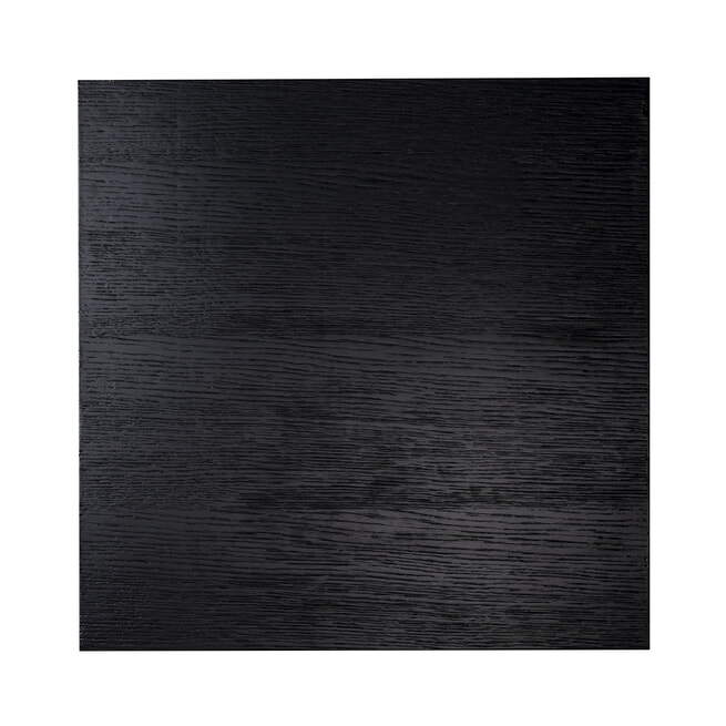 Richmond Bijzettafel 'Oakura' Eikenhout en Staal, kleur Zwart, 60 x 60cm