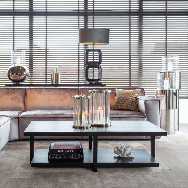 Richmond Salontafel 'Oakura' Eikenhout en Staal, 140 x 65cm
