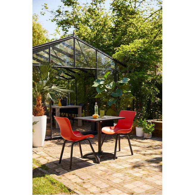 Hartman Outdoor Bistrotafel 'Sophie Studio' inklapbaar, 68 x 68cm, kleur Zwart