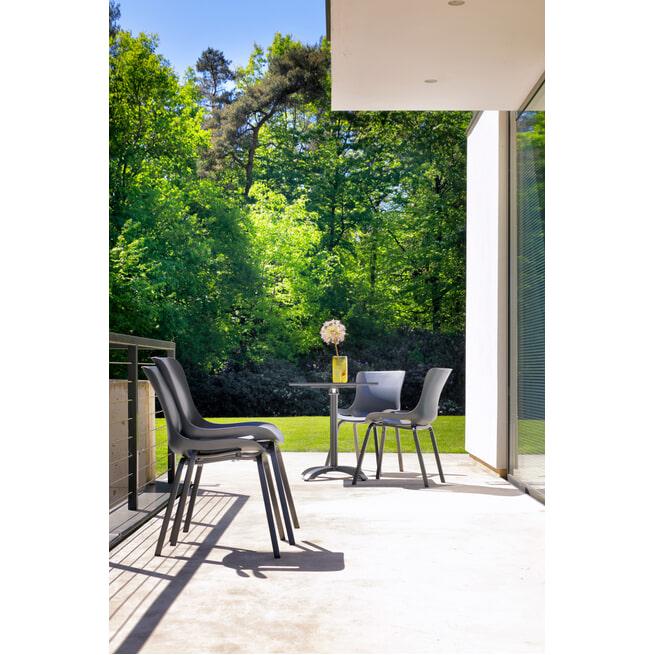 Hartman Outdoor Bistrotafel 'Sophie Studio' inklapbaar, 68 x 68cm, kleur Antraciet
