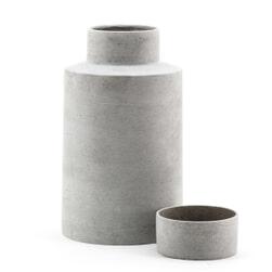 By-Boo Pot 'Ming' 42cm, kleur grijs