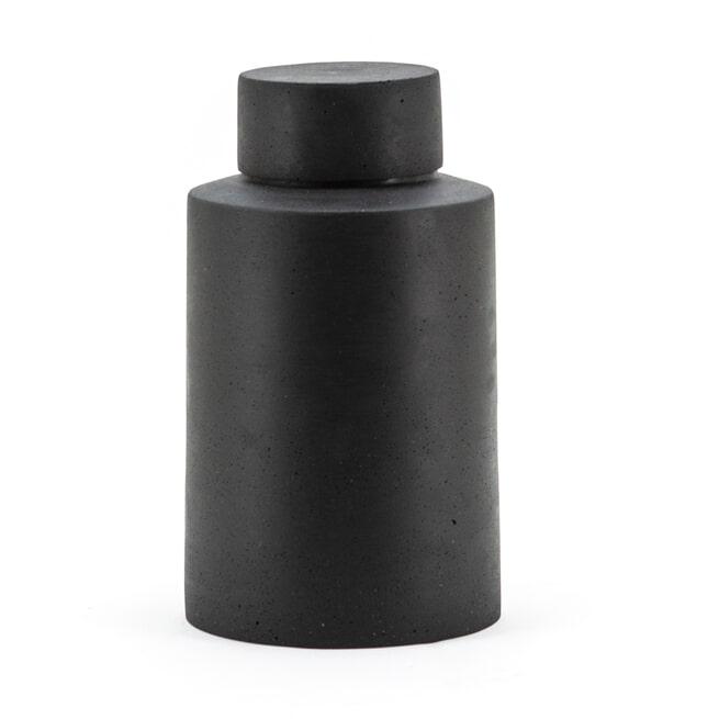 By-Boo Pot 'Ming' 42cm, kleur zwart