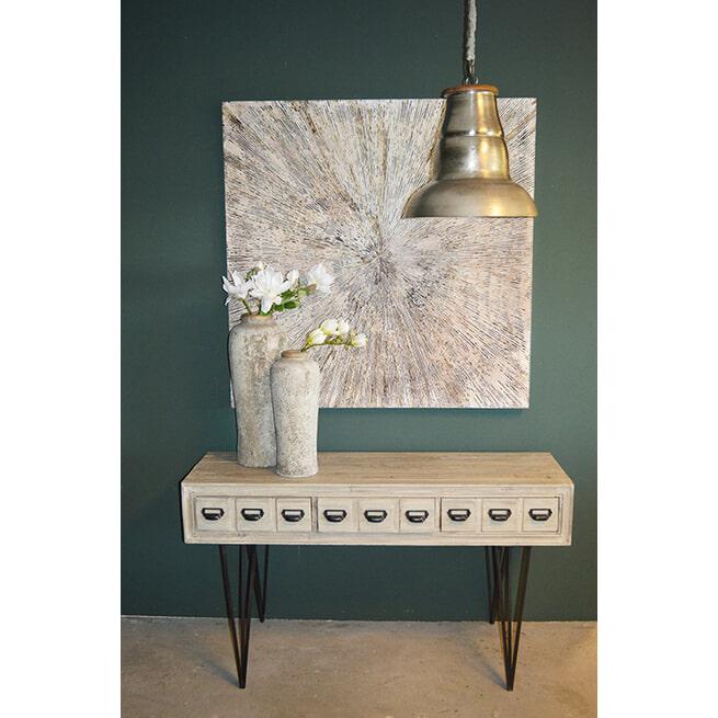 PTMD Hanglamp 'Iron', 90cm, kleur Zilver