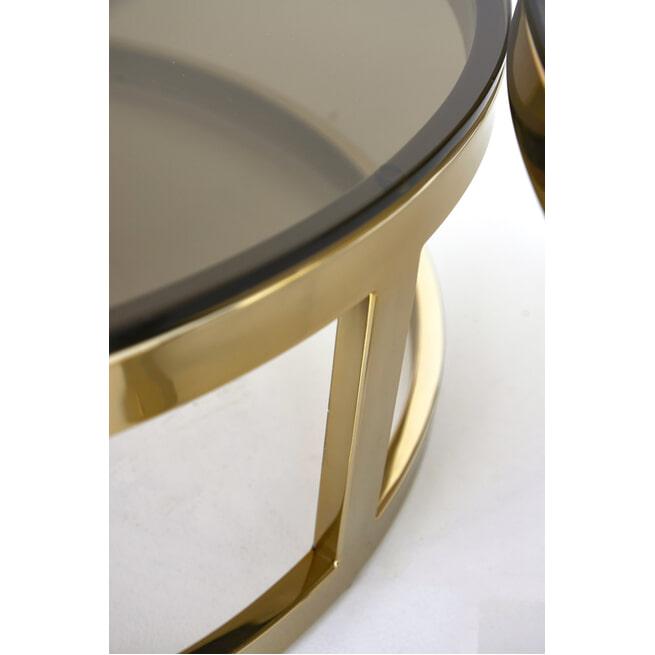 Light & Living Salontafel 'Milagro' Set van 2 stuks, kleur Goud