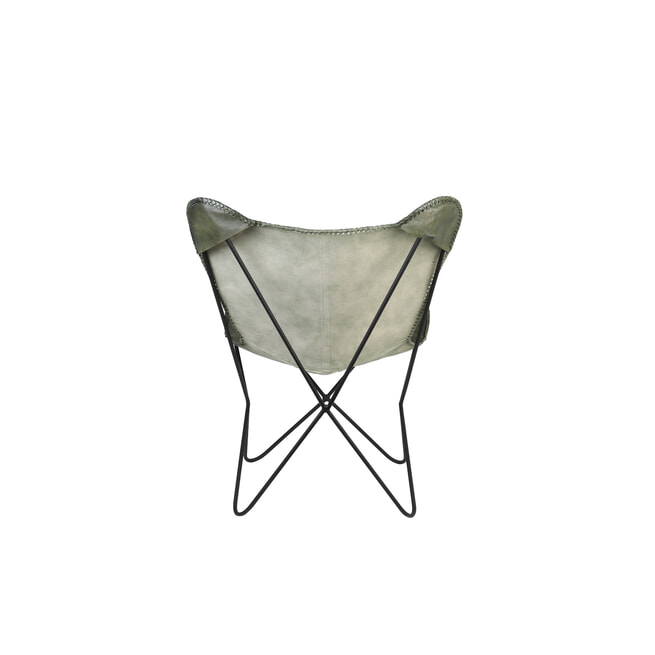 Light & Living Vlinderstoel 'Butterfly' Leder