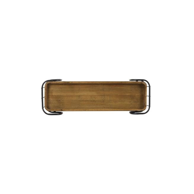 Light & Living Wandplank 'Zyra' 1 laags, zwart+hout 70cm