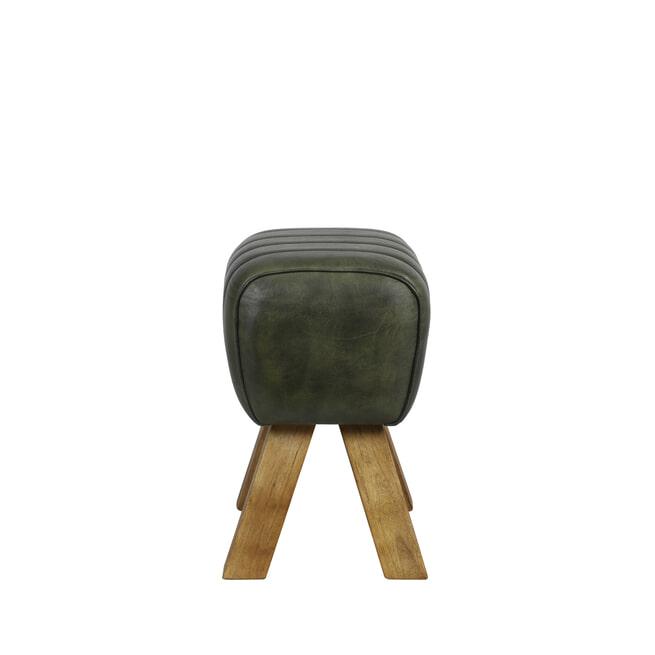 Light & Living Krukje 'Ramy' Leder, kleur Groen