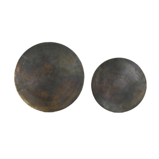 Light & Living Bijzettafel 'Socos' Set van 2 stuks, kleur Antiek Brons